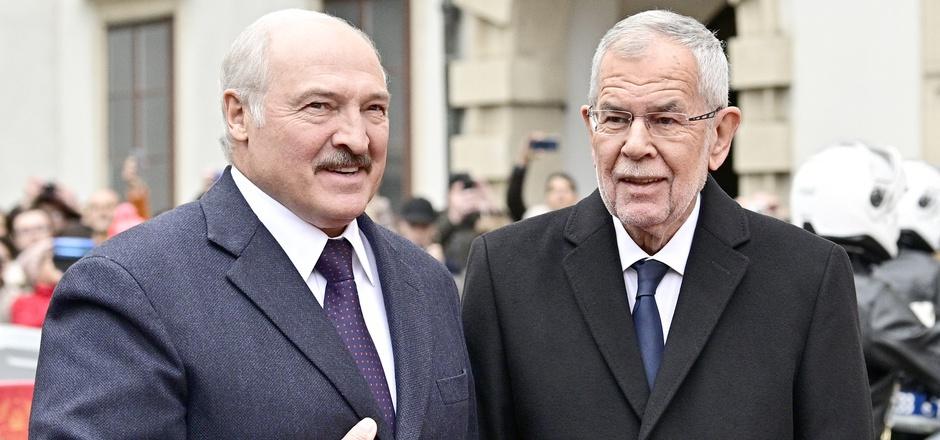 Alexander Van der Bellen empfängt den weißrussischen Präsidenten Alexander Lukaschenko.