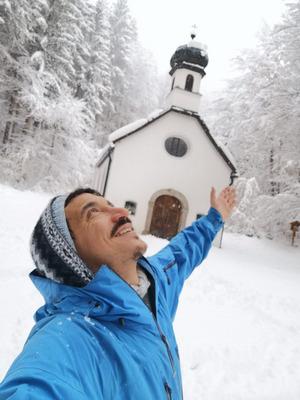 Benjamin genoss in Innsbruck unterdessen den Wintertag.