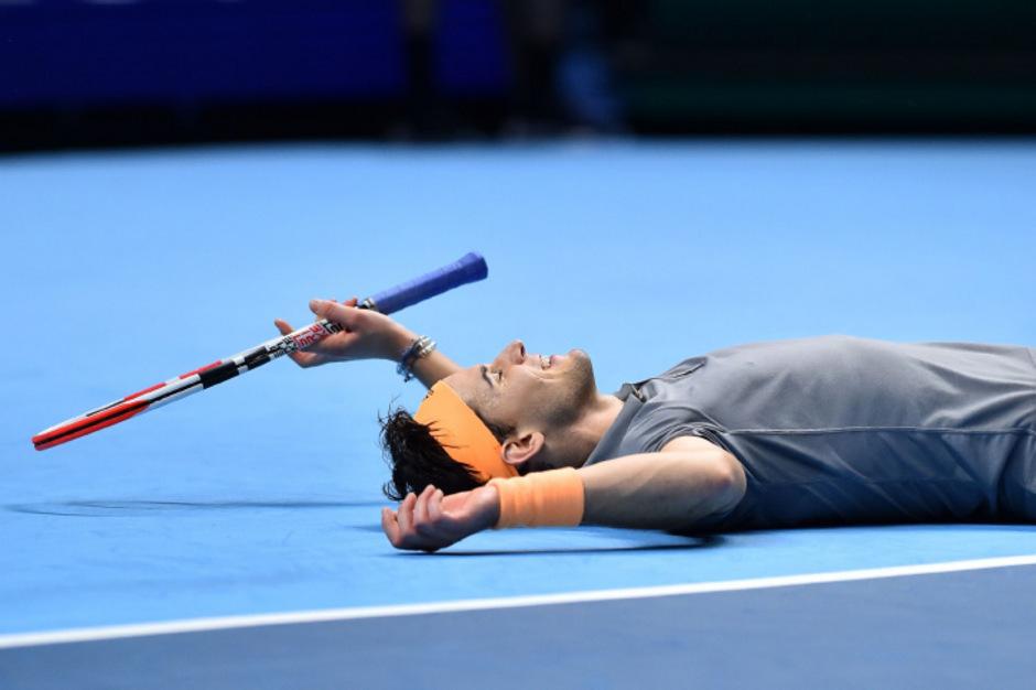 Nach einem hochdramatischen Match im Tennis-Himmel: Österreichs Superstar Dominic Thiem.