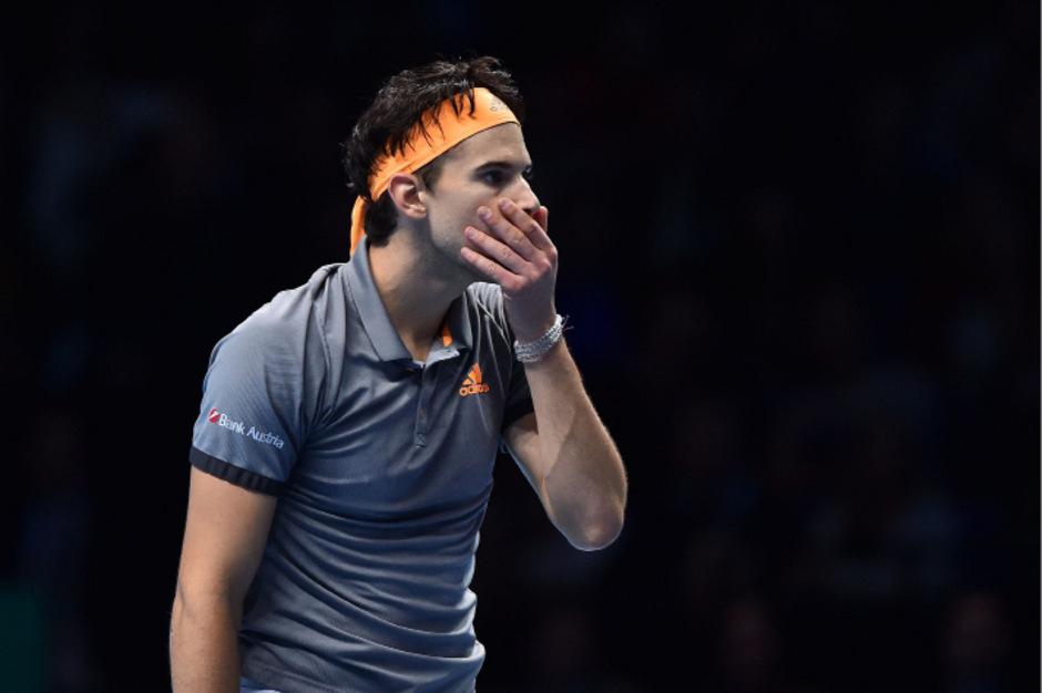 Konnte es nicht fassen: Dominic Thiem nach seinem sensationellen Sieg über Novak Djokovic.