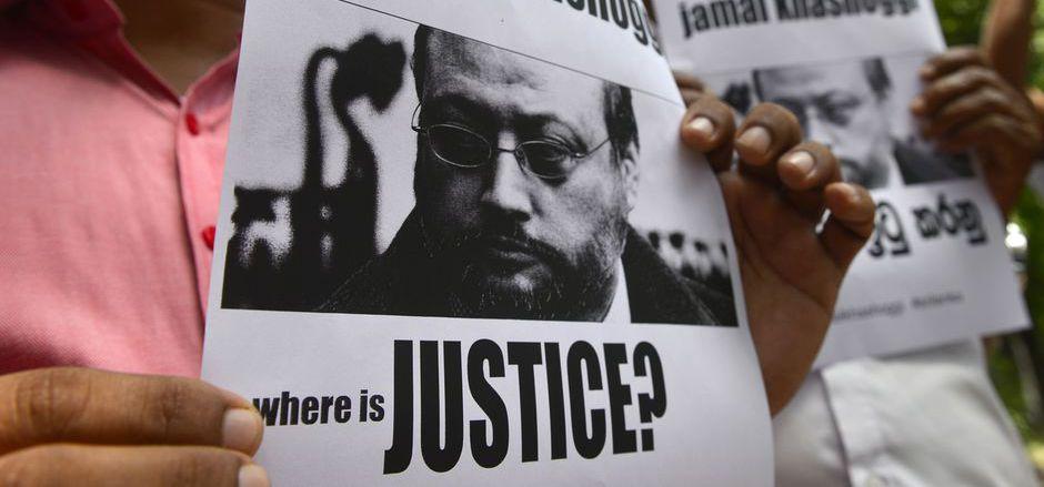 Demonstranten fordern Gerechtigkeit im Fall des getöteten Journalisten Jamal Khashoggi. (Archivaufnahme)