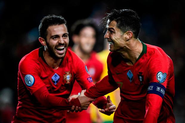 Cristiano Ronaldo traf beim Kantersieg der Portugiesen gleich drei Mal.