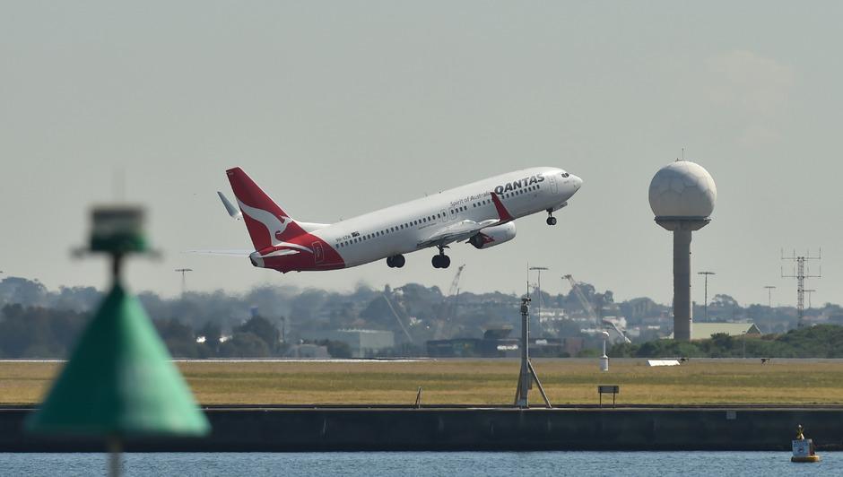Eine Qantas-Maschine am Flughafen Sydney. (Archivfoto)