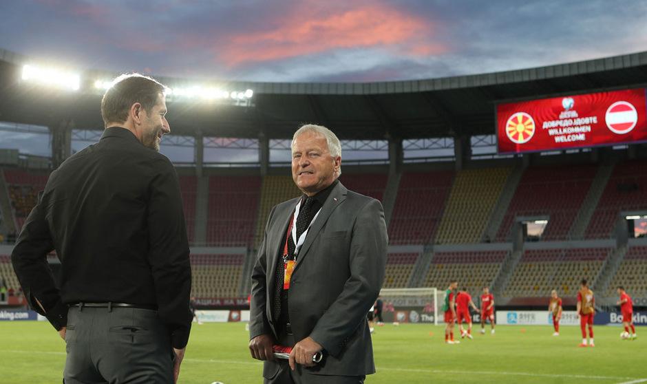 Erst soll die EM-Qualifikation unter Dach und Fach gebracht werden, dann können Teamchef Franco Foda und ÖFB-Boss Leo Windtner über die (gemeinsame) Zukunft diskutieren.