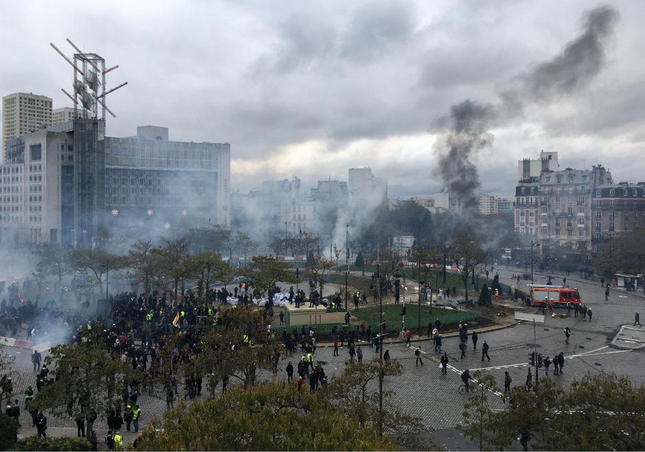 """Gelbwesten""-Proteste am Samstag in Paris."