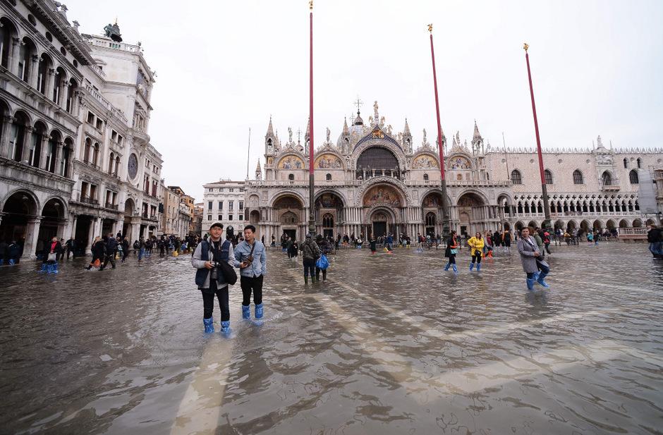Die Wetterlage dürfte sich am Sonntag in Venedig wieder zuspitzen