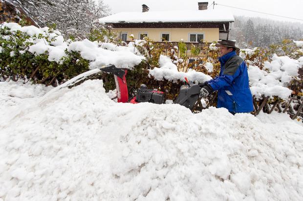 Große Schneemengen in Kärnten sorgen für Probleme.