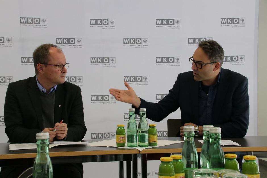 Josef Huber (l.) und Christoph Walser (r.) wollen an einer positiven Wirtschafts- und Tourismusgesinnung arbeiten und die Kooperation Schule und Wirtschaft weiter vertiefen.
