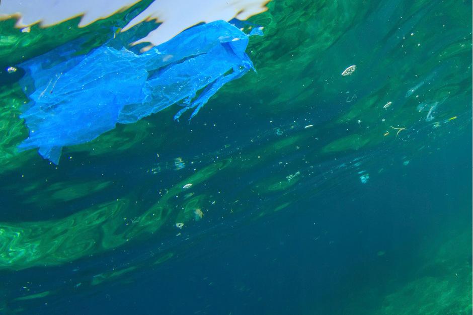 (Symbolfoto) Plastik in Gewässer.