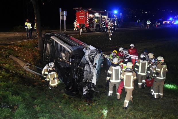 In den Unfall in Strass waren drei Fahrzeuge verwickelt.