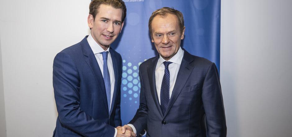 Verstehen sich seit Langem sehr gut: ÖVP-Chef Sebastian Kurz und der neue EVP-Vorsitzende Donald Tusk.