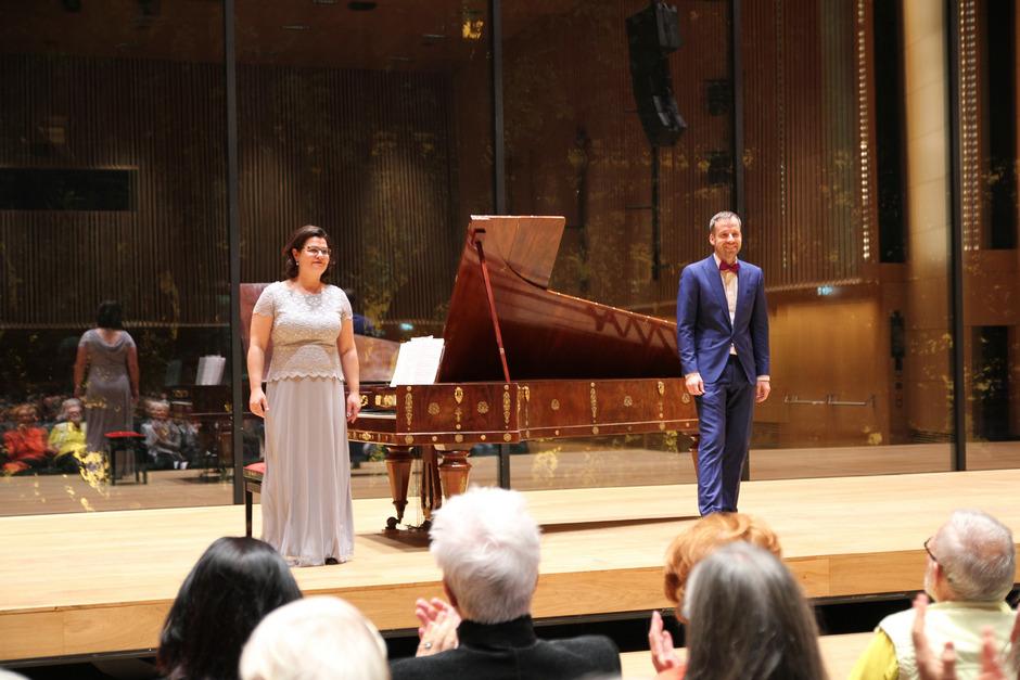 Annette Seiler und Stefan Zenkl mit Schubert im Haus der Musik Innsbruck.