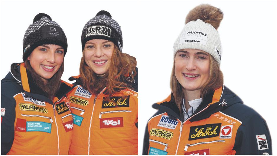 ÖRV-Damen-Team in Igls: Hannah Prock, Lisa Schulte und Madeleine Egle.