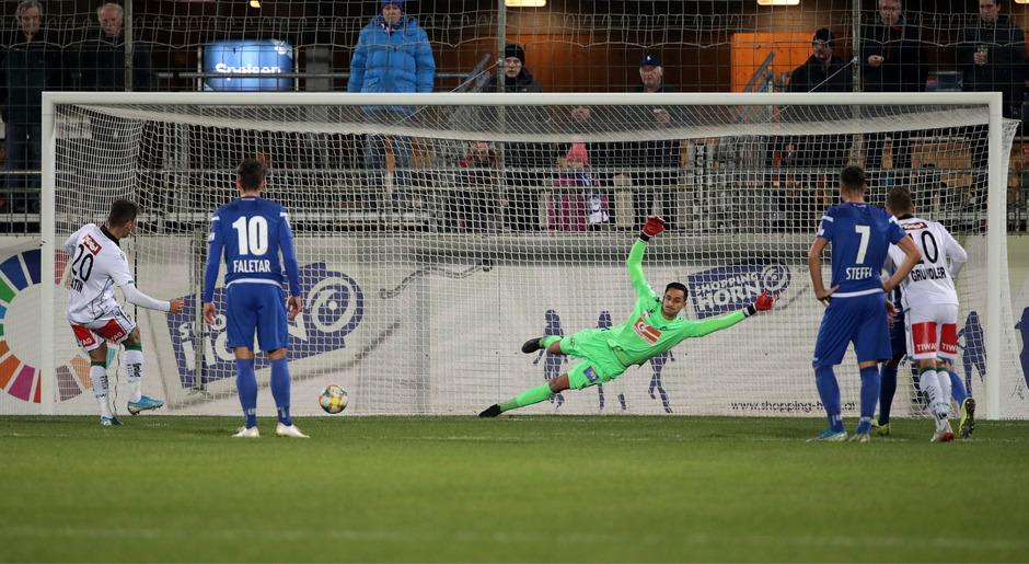 Verwandelte in Horn vom Elfmeterpunkt abgebrüht und in Seelenruhe – Murat Satin brachte den FC Wacker schon in Minute 13 mit 1:0 in Front.