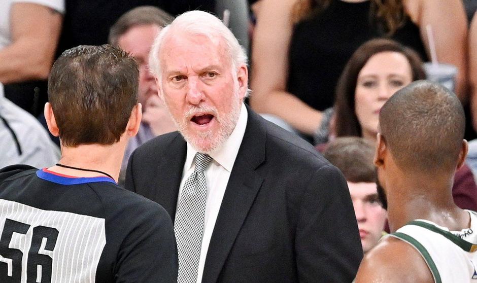 San-Antonio-Spurs-Trainer Gregg Popovich.