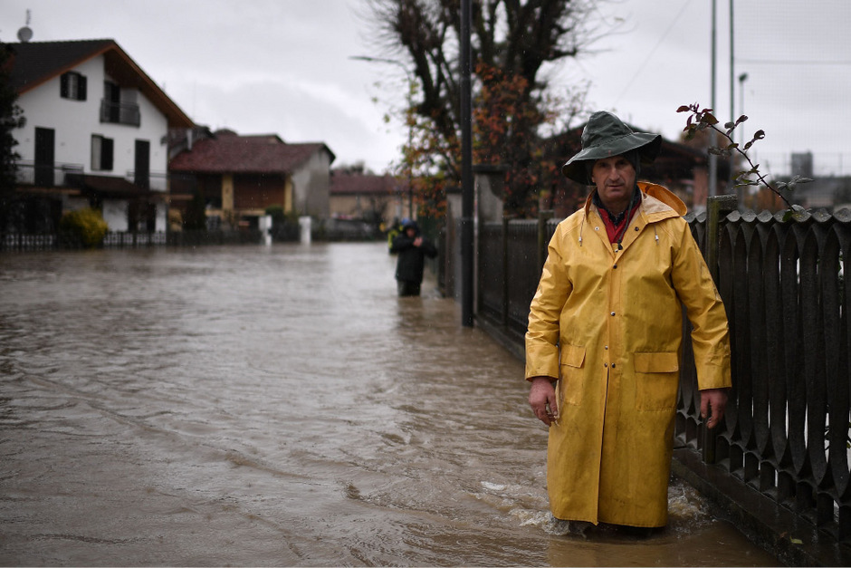 Auch in Turin stand das Wasser hoch.