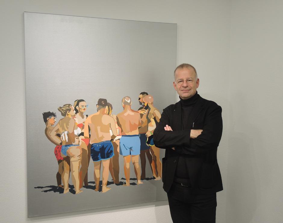 """Unter dem Titel """"Auszeit"""" zeigt der Innsbrucker Künstler Georg Loewit neueste Werke in der Städtischen Galerie Theodor von Hörmann."""
