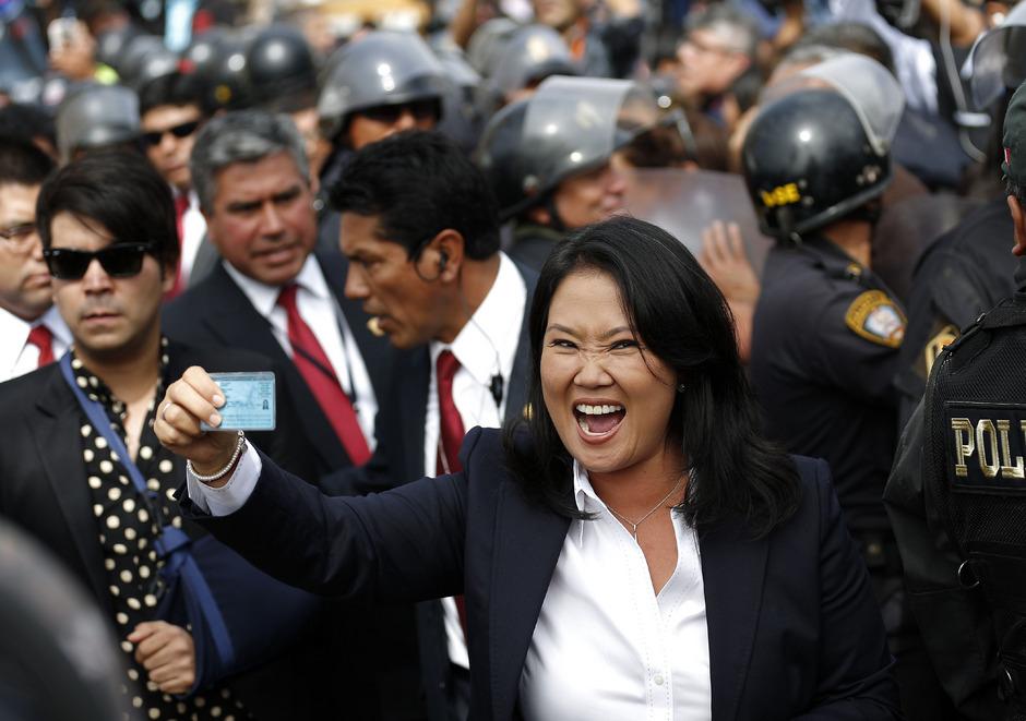 Rechtspopulistin Keiko Fujimori.