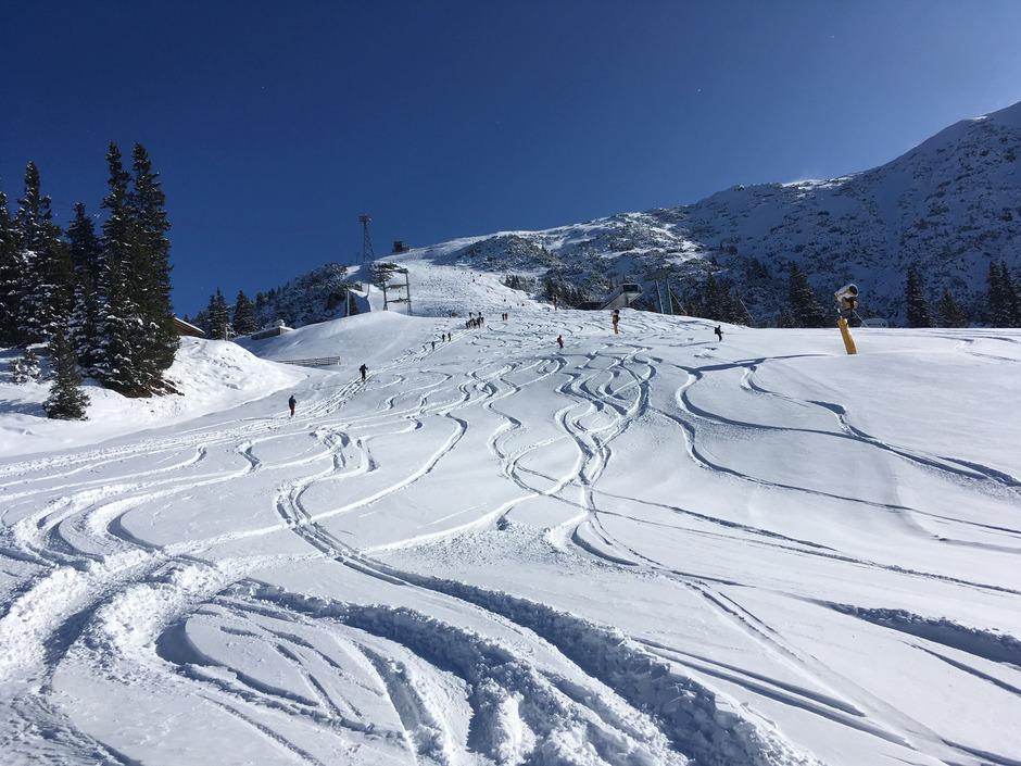 Die Tourengeher haben die Saison auf der Rosshütte in Seefeld bereits eröffnet.