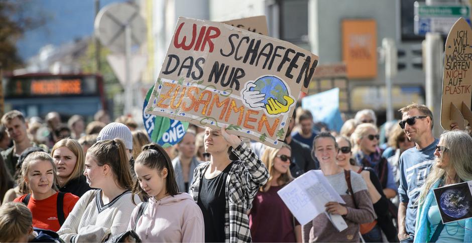 20.000 Menschen demonstrierten in Tirol beim Klimastreik vor zwei Monaten.