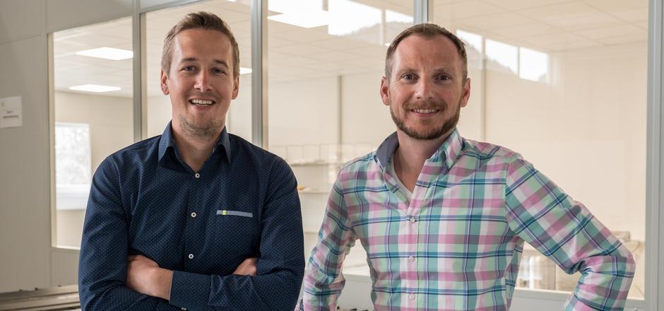 Die Gründer von Single Use Support: Thomas Wurm (l.) und Johannes Kirchmair.