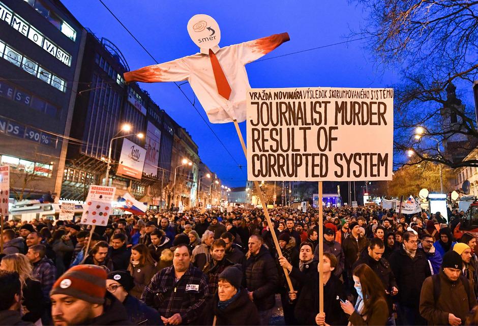 Nach der Ermordung von Martina Kusnirova kam es in der Slowakei zu heftigen Protesten.