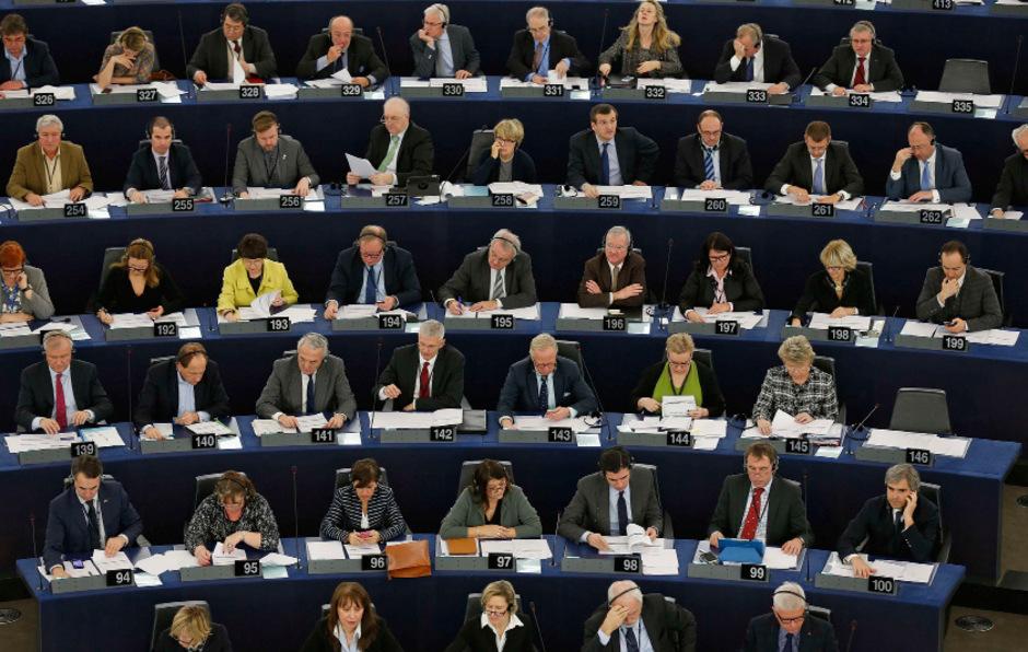 Das Europaparlament ins Straßburg.