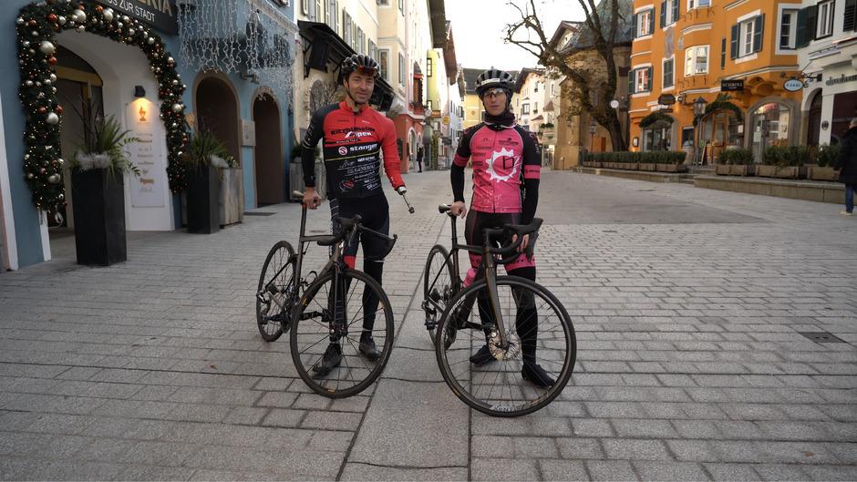 Patrick Hagenaars und Nadja Prieling bei der Präsentation des 1. Kitzbüheler Radmarathons in der Gamsstadt.