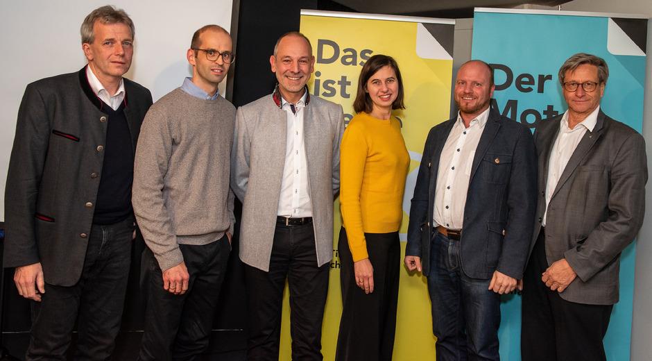 Der neue WB-Bezirksobmann Christian Strigl (3.v.l.) und sein Team mit Walter Barbist, Christian Hammerle, Andrea Speckbacher, Florian Schennach und Reinhard Schretter (v.l.).