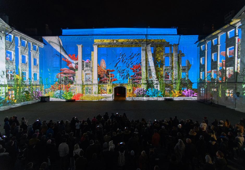 Die Lightshow im Innenhof der Hofburg ist eines der Projekte, mit denen Innsbruck Tourismus punkten will.