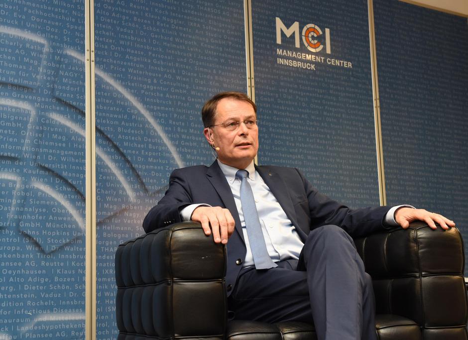 Gerhard Drexel, Spar-Chef, erklärte am MCI seine Strategie.