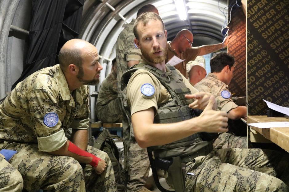 Major Johannes Scheicher ist Kommandant der Transportkompanie. Er ist bereits zum zweiten Mal im Libanon-Einsatz.