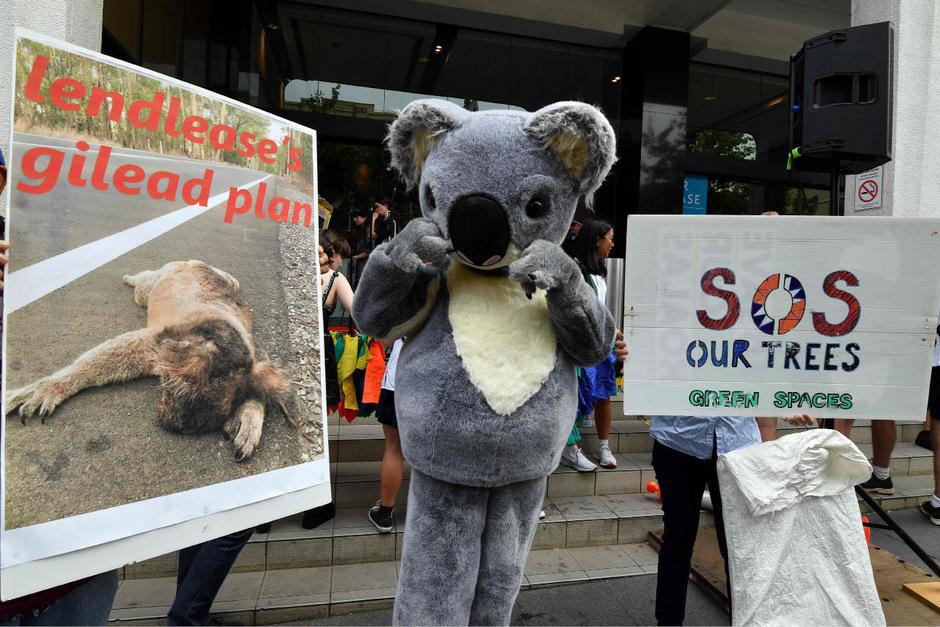 In Sydney, das wegen der nahegelegenen Waldbrände unter einer dichten Rauchwolke hängt, protestierten hunderte Schüler und Aktivisten vor der Parteizentrale der Regierungspartei.