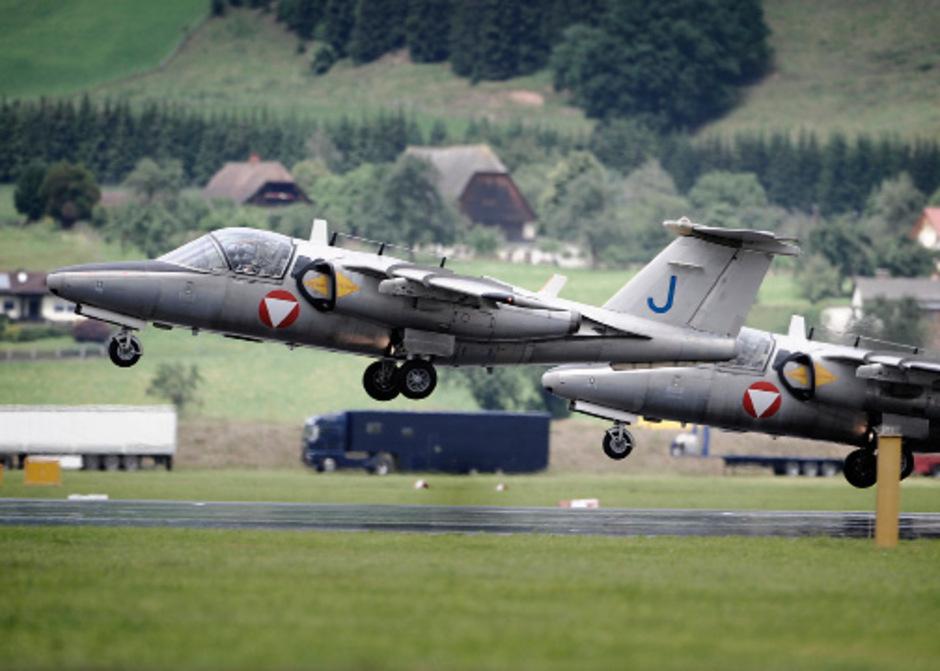 Die Saab 105 des Bundesheeres können monatelanger ausfallen.