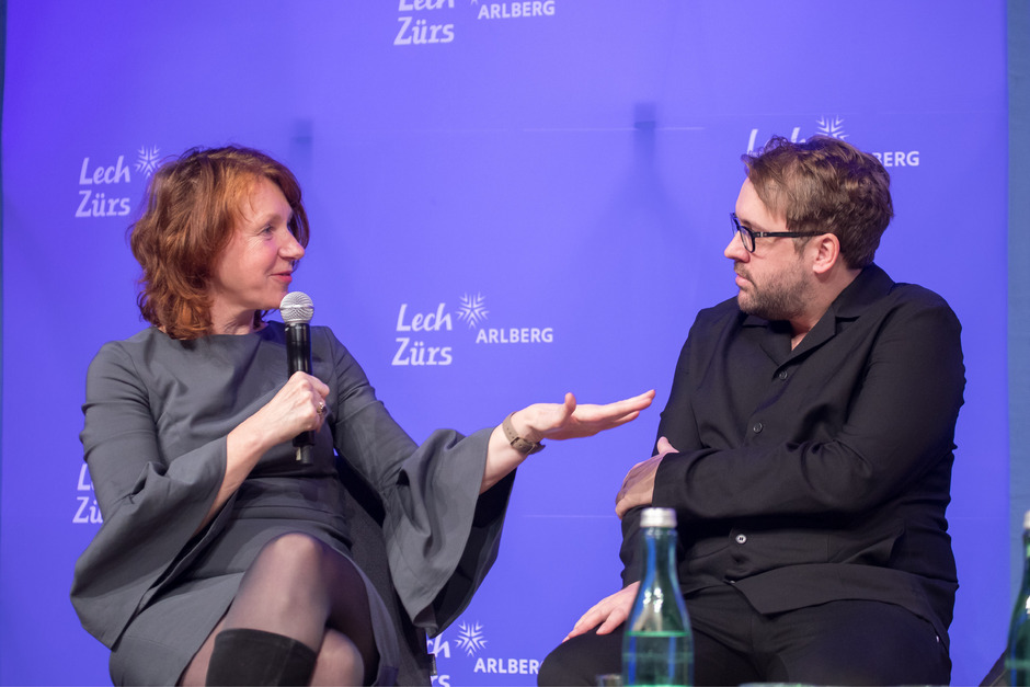 Ulrike Guérot, Politikwissenschafterin an der Donau-Universität Krems, beim Mediengipfel in Lech.
