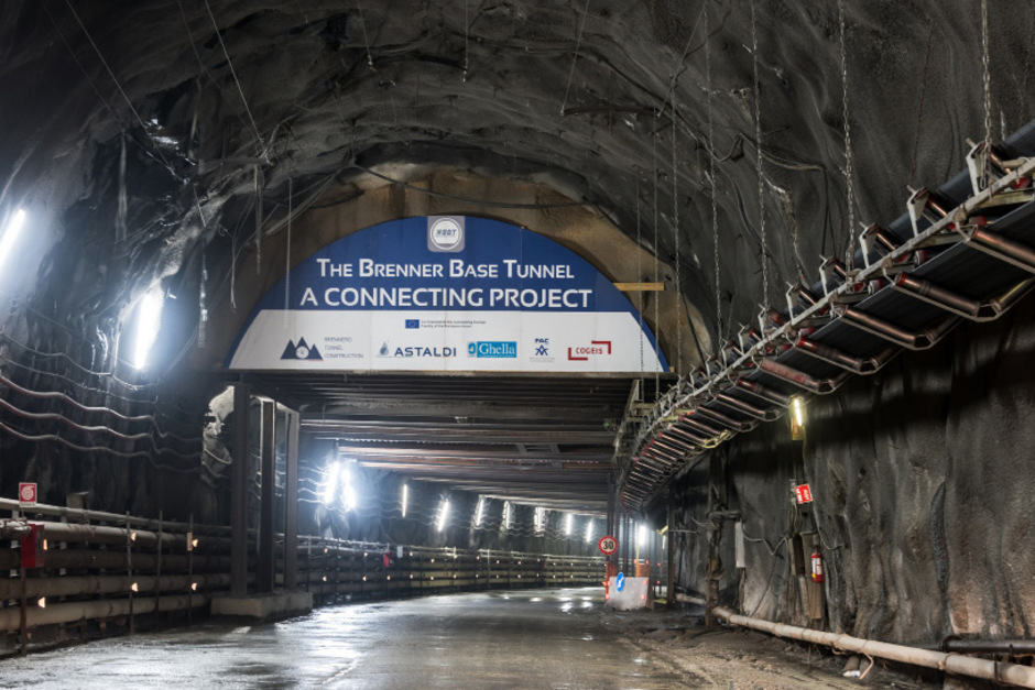 Brennerbasistunnel-Baustelle in Mauls (Italien).