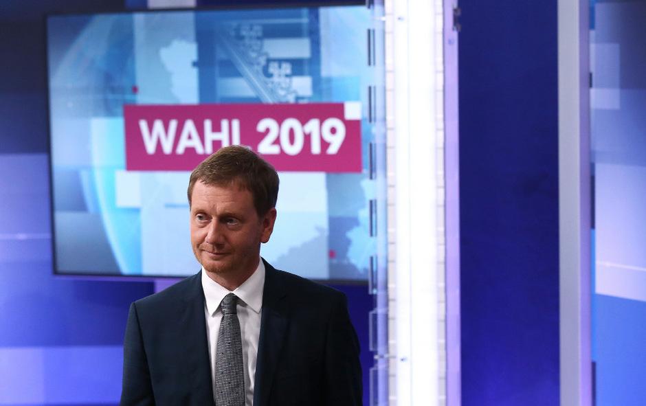 CDU-Ministerpräsident Michael Kretschmer schloss schon im Vorfeld eine Koalition mit den Linken und der AfD kategorisch aus.