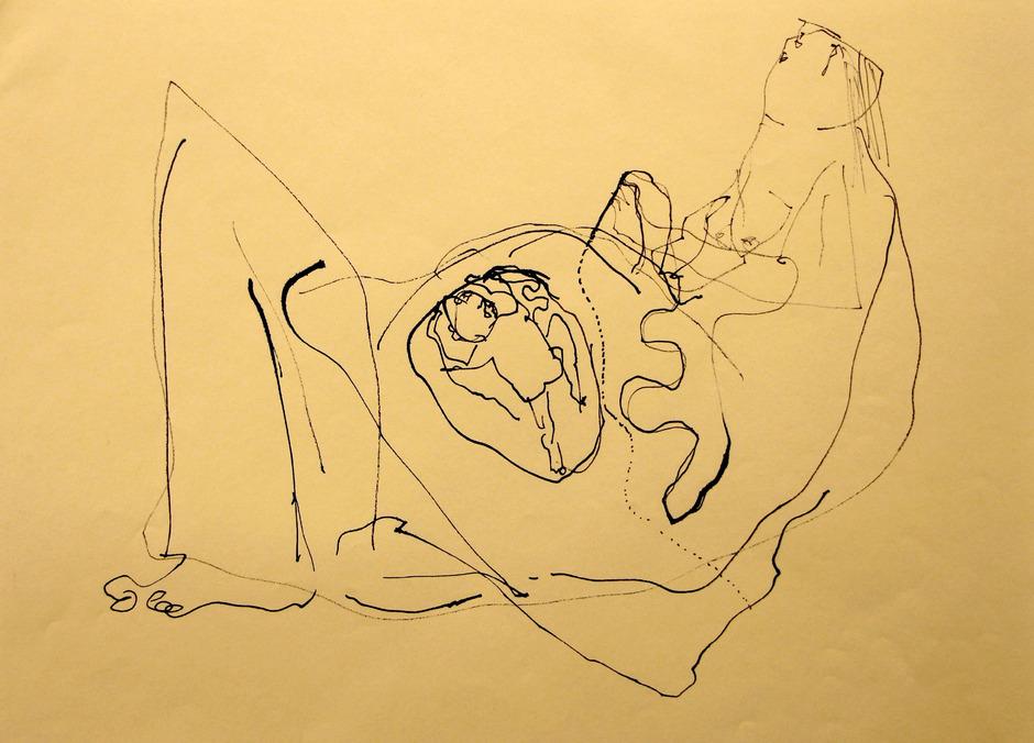"""Gerber-Preis für """"Nabelschnur sticken"""" von Claudia Mang."""