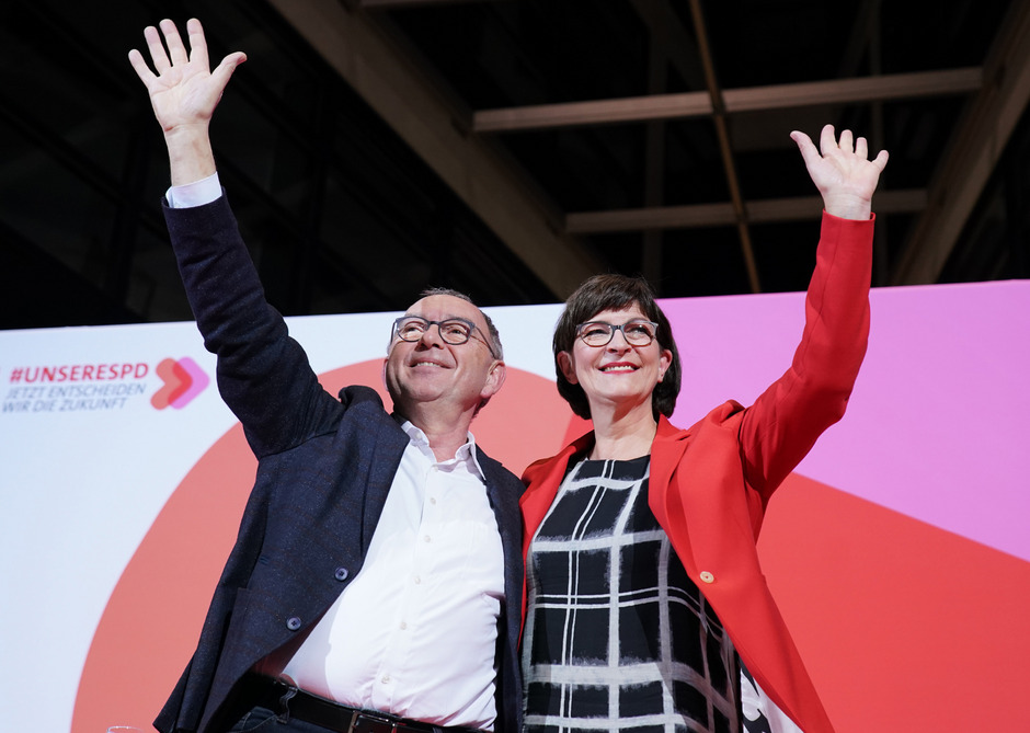 Norbert Walter-Borjans und Saskia Esken.