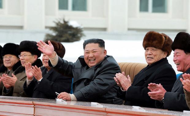 Machthaber Kim Jong-un während der Eröffnung.