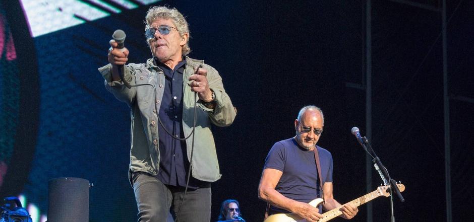 """Noch immer Seite an Seite: Roger Daltrey (l.) und Pete Townshend, verbliebener Rest von """"The Who""""."""
