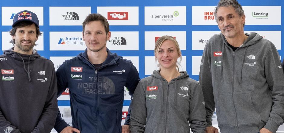 Das neue ?Dreamteam? der Nationaltrainer: Kilian Fischhuber, Sportdirektor Heiko Wilhelm, Katharina Saurwein und Reinhold Scherer (v.?l.).
