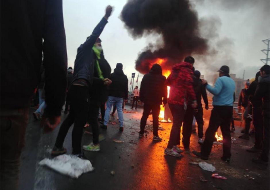 Bei den Protesten (hier in Teheran) im November entlud sich die Wut über steigende Preise und sinkende Lebensqualität.