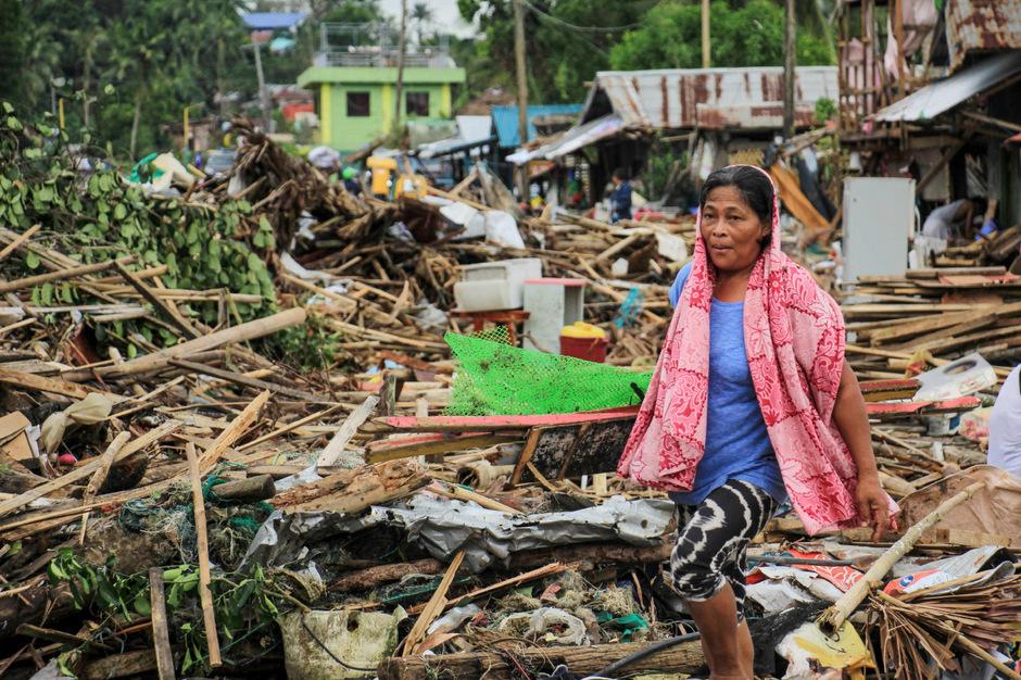 """Der Taifun """"Kammuri"""" hat auf den Philippinen große Zerstörung angerichtet."""